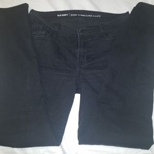 Old Navy Faded Black Skinny Jeans - Size 6